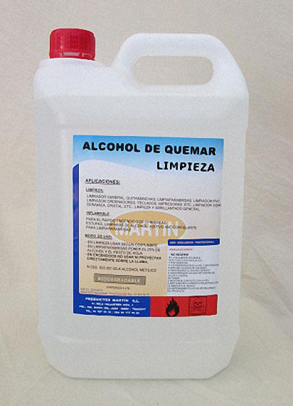ALCOHOL DE QUEMAR - LIMPIEZA 5 LITROS