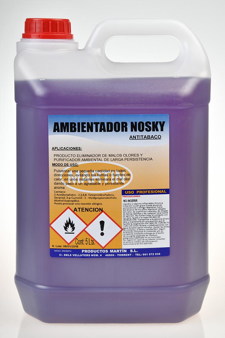 AMBIENTADOR ANTITABACO LAVANDA NOSKY 5 LITROS