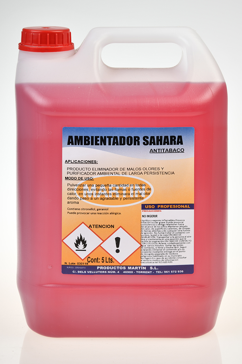 AMBIENTADOR ANTITABACO SAHARA 5 LITROS