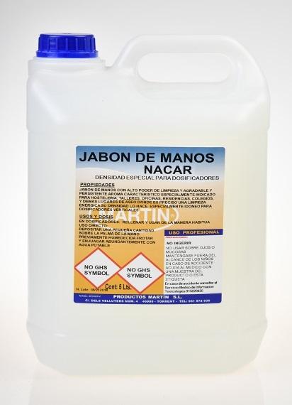 JABON MANOS NACAR 5 LITROS